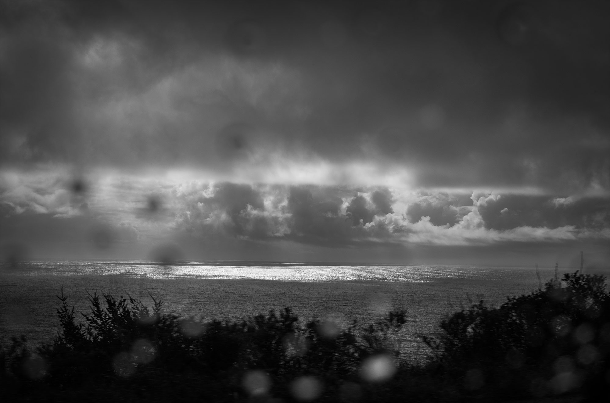 A storm over the Pacific Ocean.